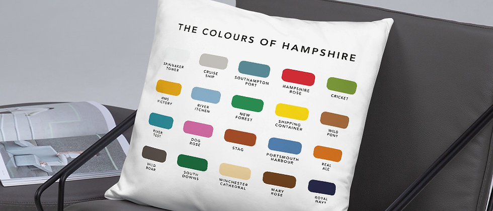 The Colours of Hampshire Cushion