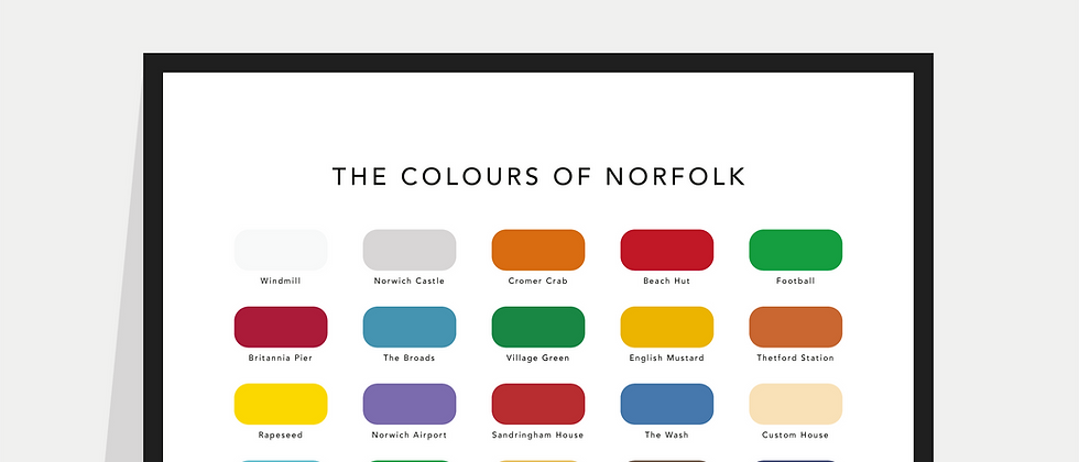 The Colours of Norfolk Paint Chart Poster / Print