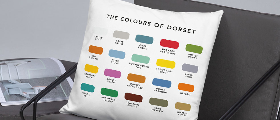 The Colours of Dorset Cushion