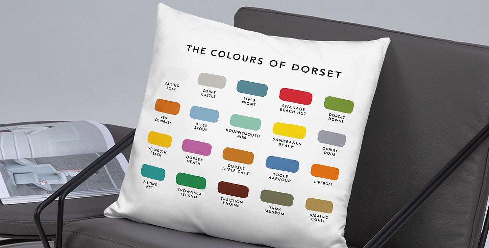 The Colours of Dorset Cushion