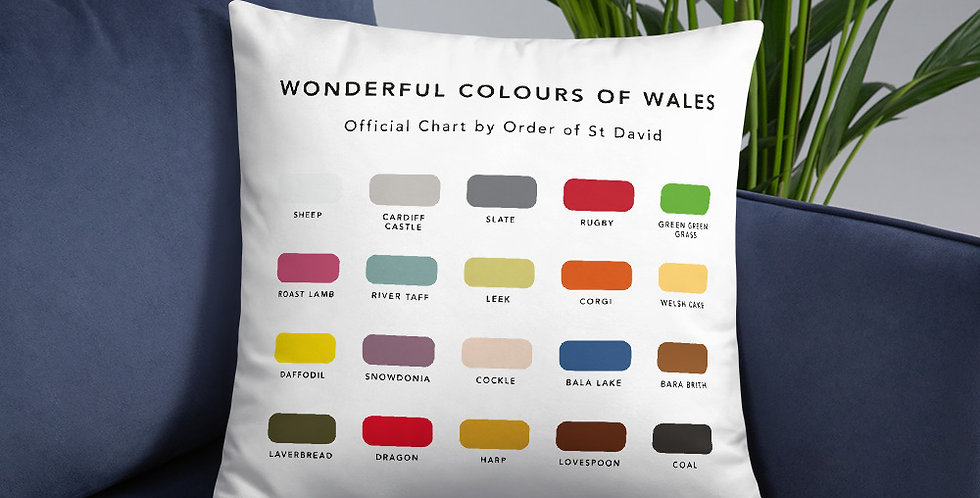 The Wonderful Colours of Wales Cushion
