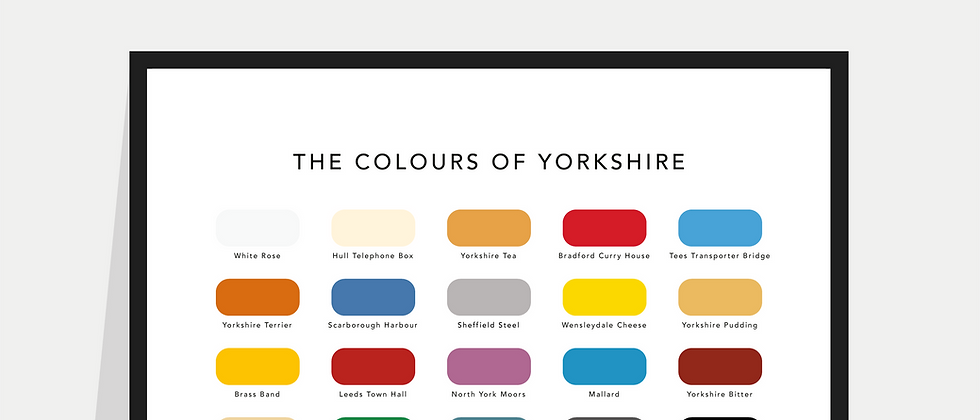 The Colours of Yorkshire Paint Chart Poster / Print