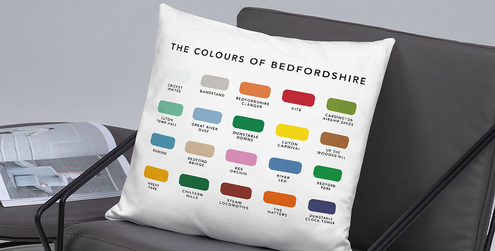 The Colours of Bedfordshire Cushion