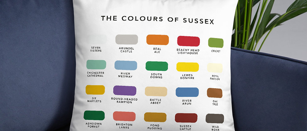 The Colours of Sussex Cushion