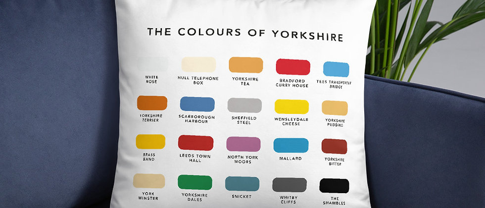 The Colours of Yorkshire Cushion
