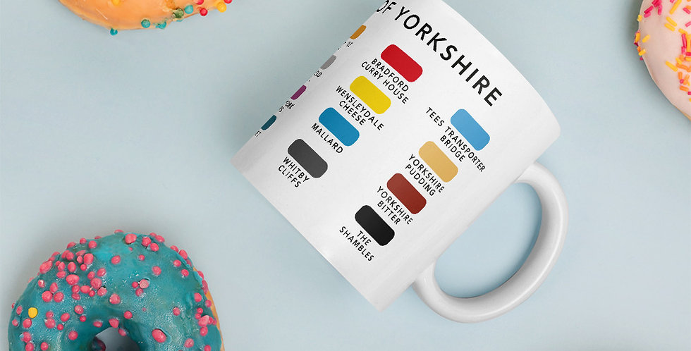 The Colours of Yorkshire Mug
