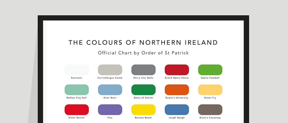 The Colours of Northern Ireland Paint Chart Poster / Print