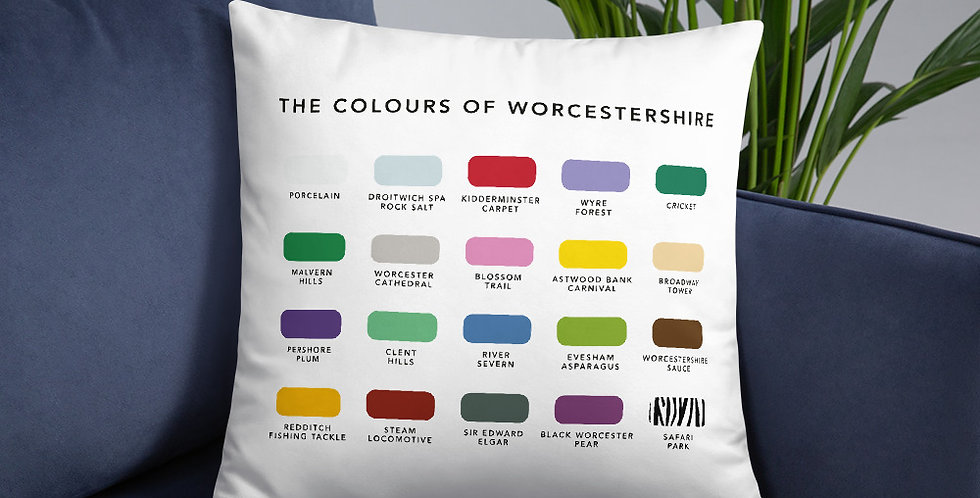 The Colours of Worcestershire Cushion