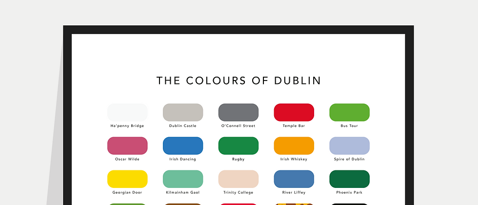 The Colours of Dublin Paint Chart Poster / Print