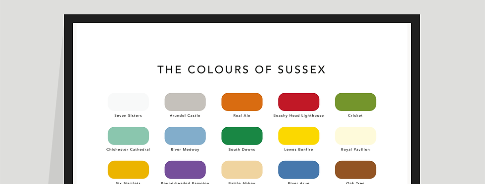 The Colours of Sussex Paint Chart Poster / Print