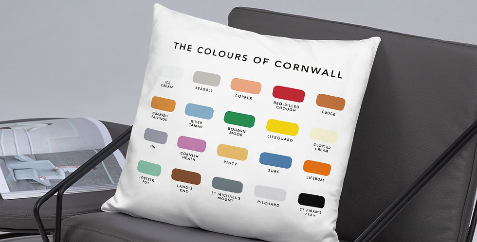 The Colours of Cornwall Cushion