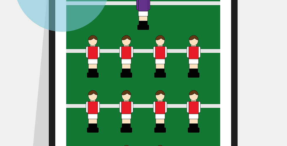 Personalised Table Football Poster / Print - Pick your own Kit Colours