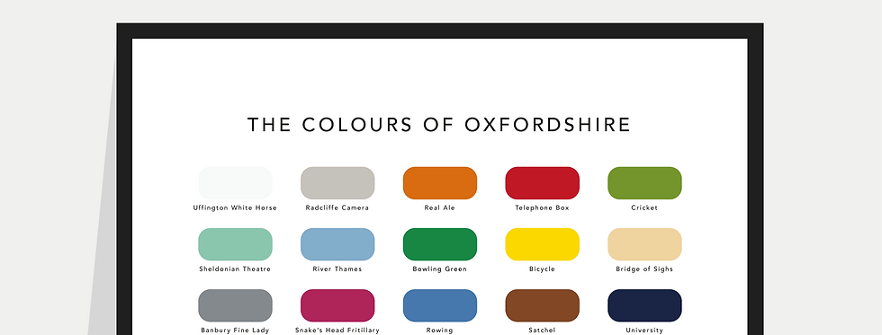 The Colours of Oxfordshire Paint Chart Poster / Print