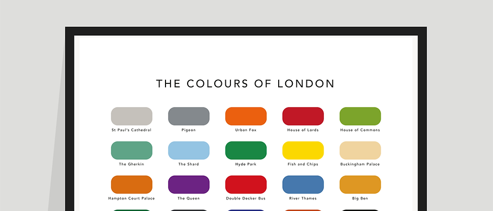 The Colours of London Paint Chart Poster / Print