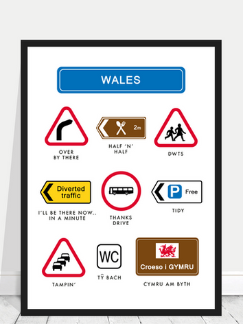 Wales road signs framed.png