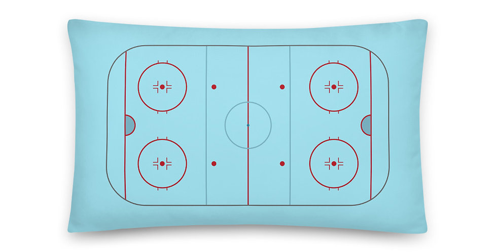 Ice Hockey Rink Pillow 20 inches x 12 inches