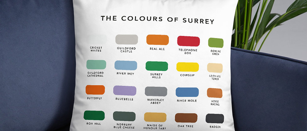 The Colours of Surrey Cushion