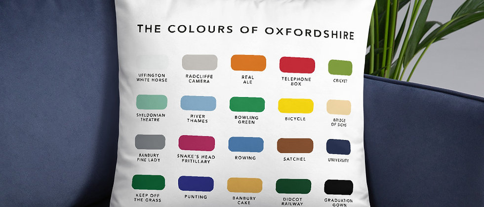 The Colours of Oxfordshire Cushion