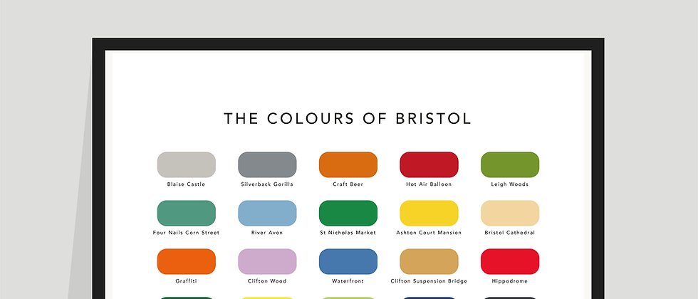 The Colours of Bristol Paint Chart Poster / Print