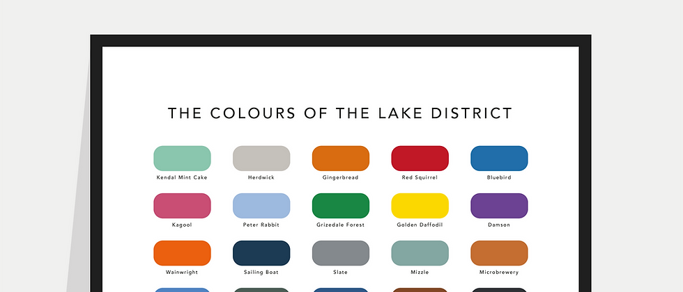 The Colours of the Lake District Paint Chart Poster / Print