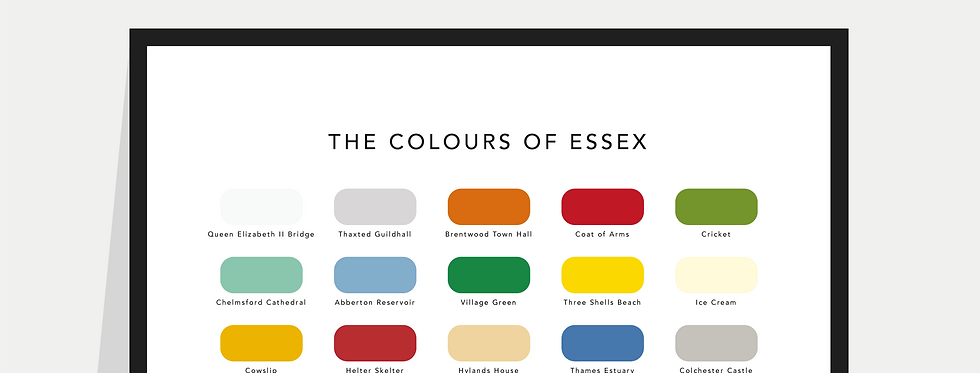 The Colours of Essex Paint Chart Poster / Print
