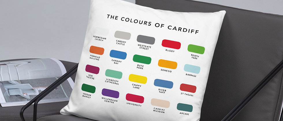 The Colours of Cardiff Cushion
