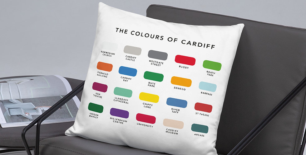 The Colours of Cardiff Cushion
