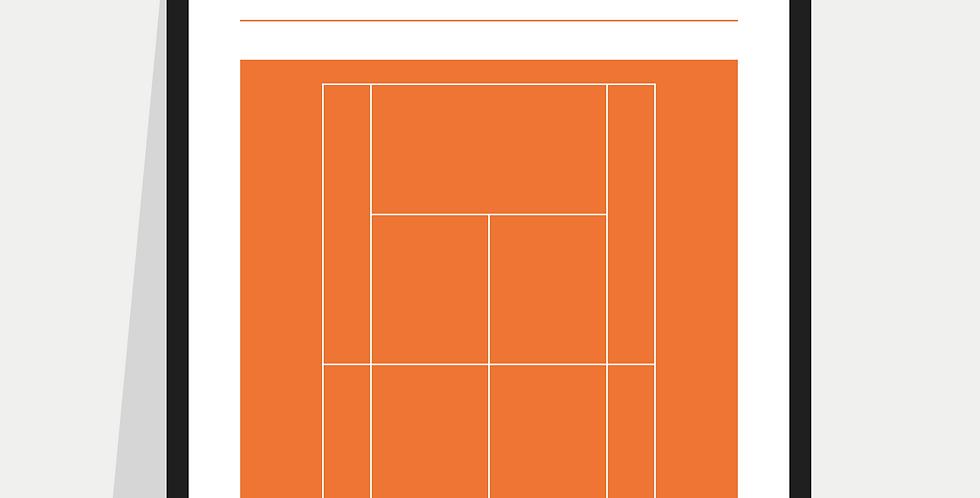 Tennis Definition Poster / Print - Orange Court (French Open)