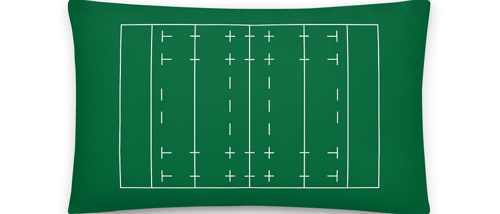 Rugby Pitch Pillow 20 inches x 12 inches