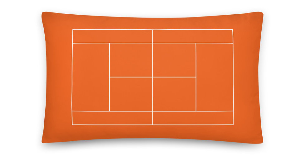 Tennis Court Pillow 20 inches x 12 inches - Orange