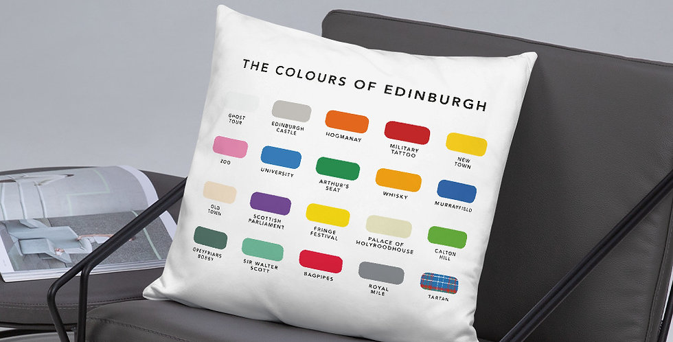 The Colours of Edinburgh Cushion