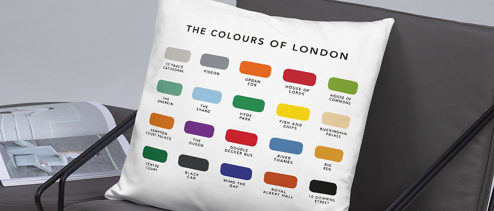 The Colours of London Cushion