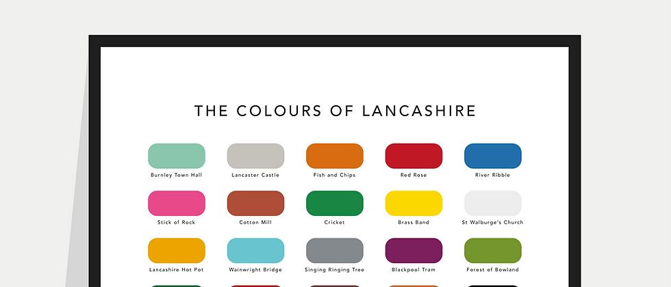 The Colours of Lancashire Paint Chart Poster / Print