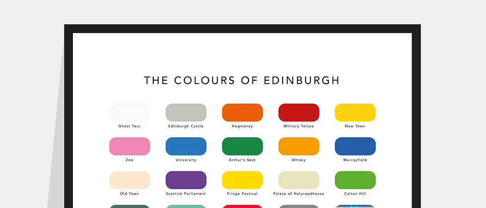 The Colours of Edinburgh Paint Chart Poster / Print