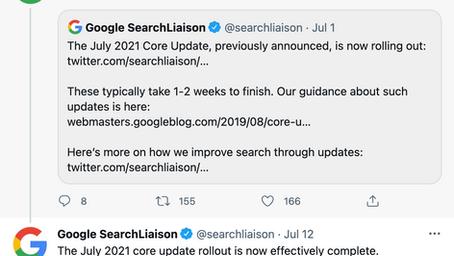 July 2021 Google Core Update