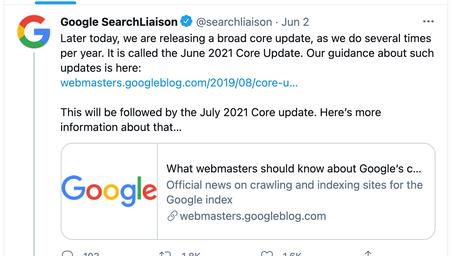 The June 2021 Google Core Update