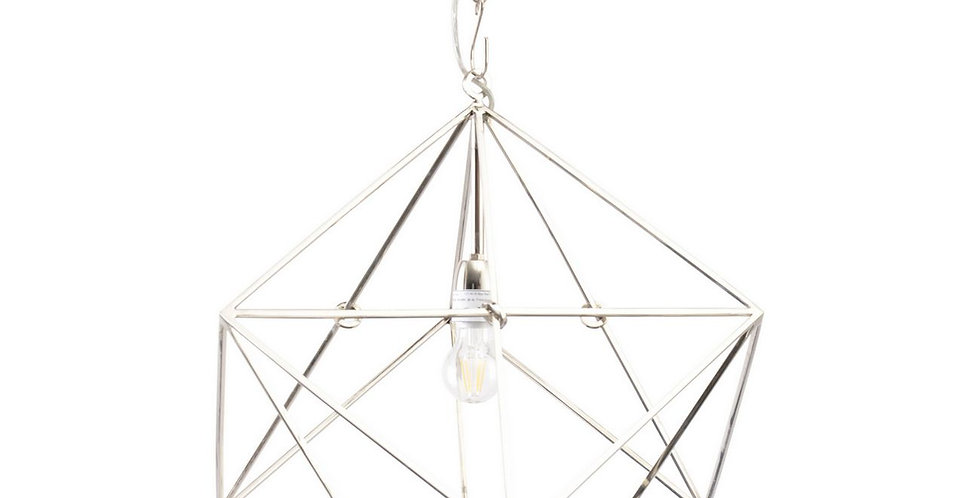 Geometric Nickel Pendant Lamp