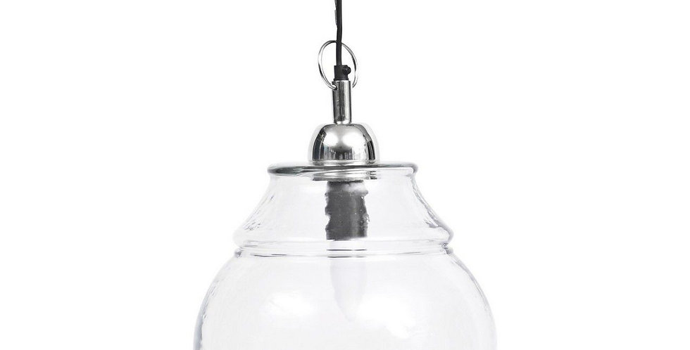 Belton Clear Glass And Nickel Glass Pendant