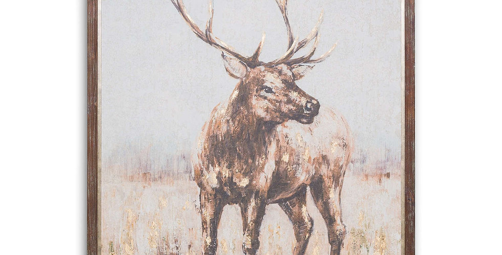 Large Solo Stag On Cement Board