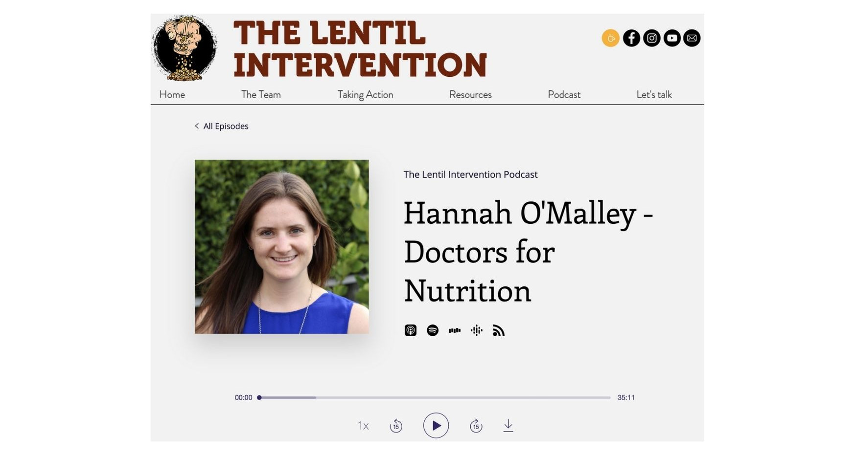 Lentil Intervention podcast, 1 March 2021