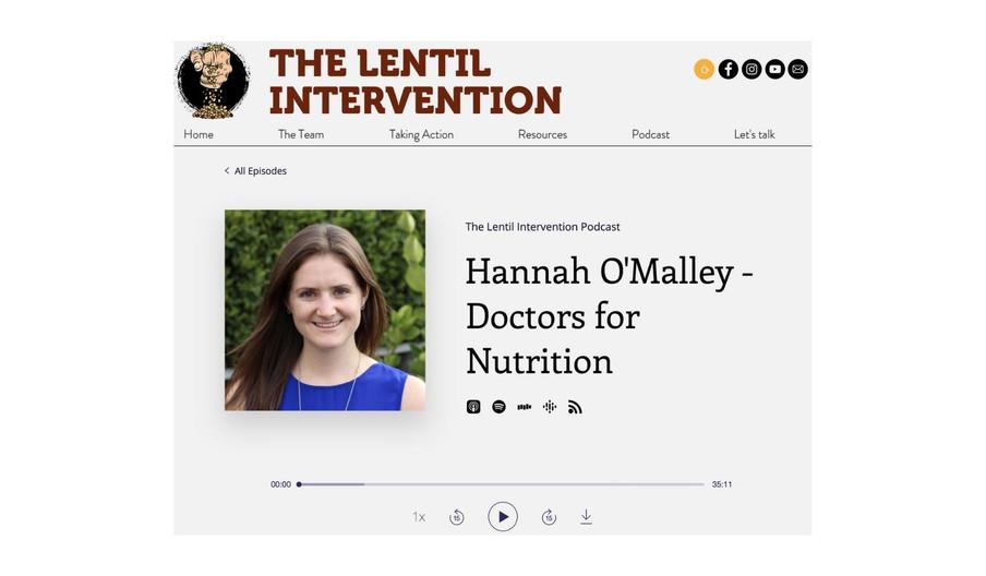 Lentil Intervention podcast, 1 March 2021