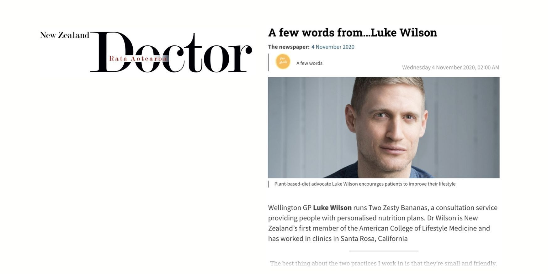 New Zealand Doctor, November 2020