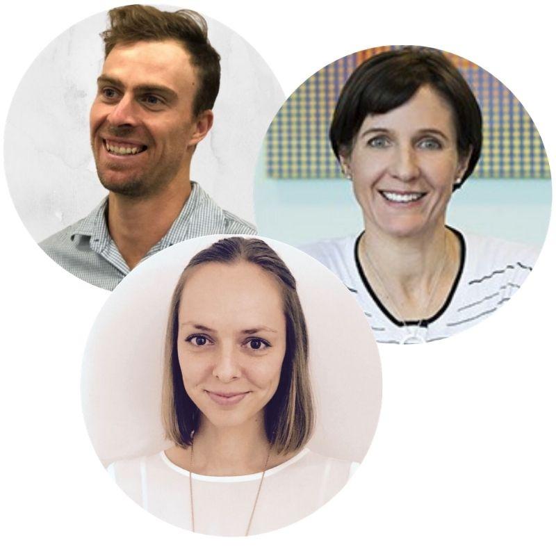 Joel Craddock APD, Angela Genoni PhD and Emma Strutt APD