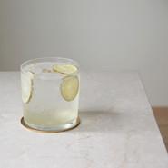 カボスのシロップソーダ 期間限定 -2020/10   自家製カボスを用いた期間限定シロップソーダ。 イタリア モデナ産guerzoni社のホワイトバルサミコ酢を合わせています。  GLASS Brand:ALESSI Water Glass Designer:Jasper Morrison