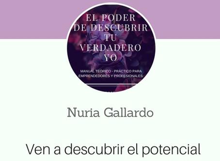 """TALLER ONLINE Y PRESENCIAL EN BASE AL   LIBRO """"EL PODER DE DESCUBRIR TU VERDADERO YO""""."""