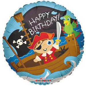 Happy Birthday - Pirate - 18 Inch