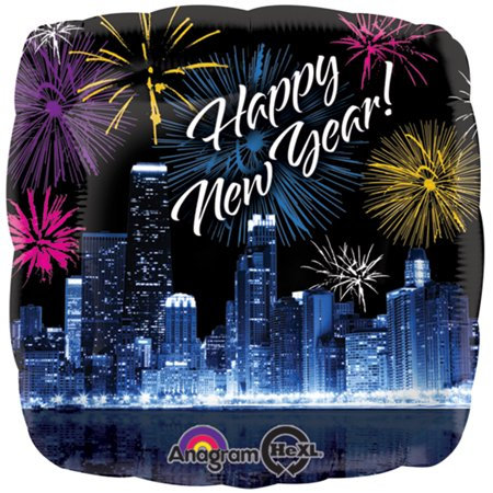 Fire Works Happy New Year - 18inch