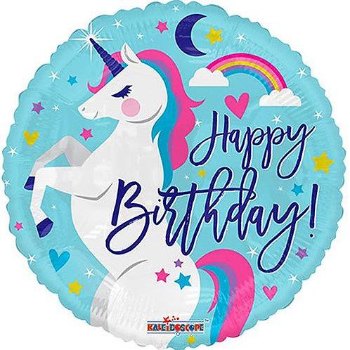 Happy Birthday Unicorn - 18 Inch