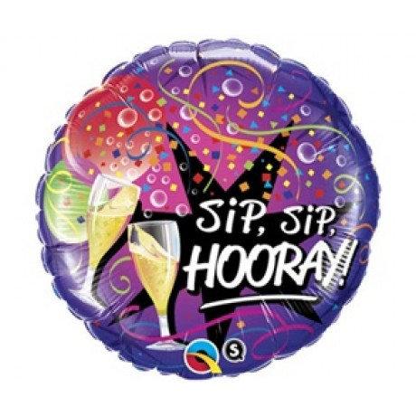 Sip Sip Hooray, Happy New Year - 18inch