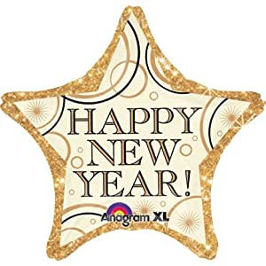 Gold Happy New Year - 18inch